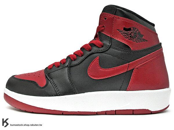 2015 經典重現 1986 年喬丹實戰款 NIKE LOGO 完全復刻 NIKE AIR JORDAN 1 1.5 RETRO HIGH THE RETURN BG GS 大童鞋 女鞋 BRED 黑紅 公牛 OG 原版配色 皮革 AJ 芝加哥 (768862-001) !