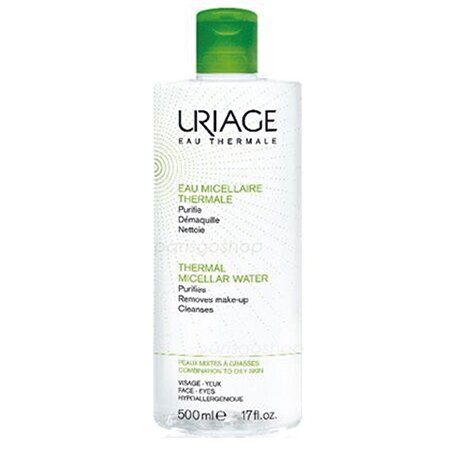Uriage 優麗雅 含氧舒活高效潔膚液 500 ML (綠-清爽)【巴黎好購】 - 限時優惠好康折扣