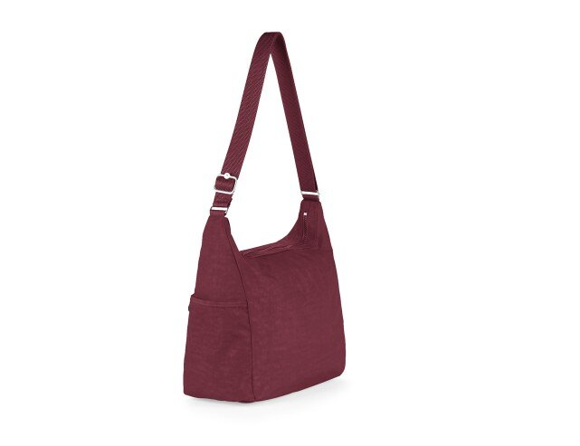 OUTLET代購【KIPLING】Basic拉鍊牛角包 斜揹包 肩揹包 媽媽包 酒紅色 1