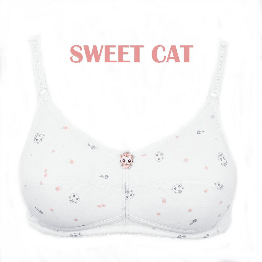 【夢蒂兒】俏皮貓咪。無鋼圈胸衣(香檳) 2