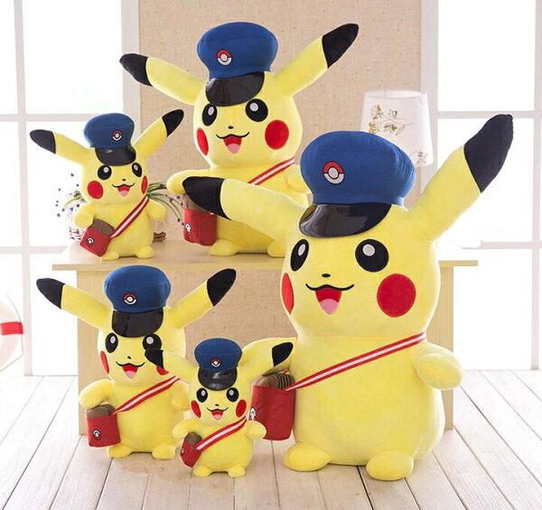 寶可夢 pokemon 日系卡通神奇寶貝娃娃皮卡丘毛絨玩具戴帽子的皮卡丘公仔玩偶