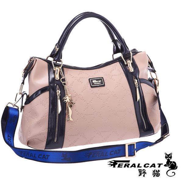 ( 包飾衣院 shape ) 聖羅蘭系列手提兩用包。手提斜背包【FC3001】(杏色)