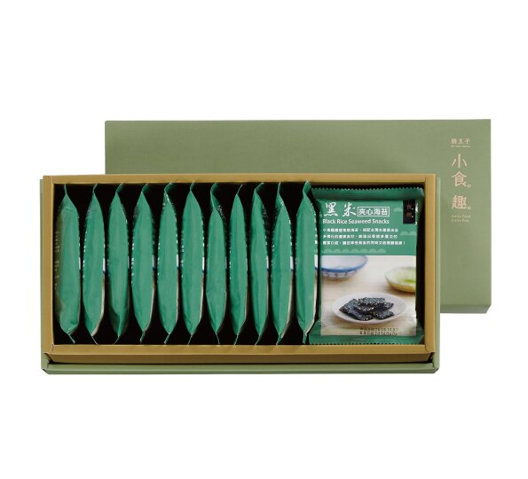 小食趣黑米夾心海苔禮盒♥12包入+贈質感提袋 1