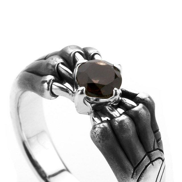 【海外訂購】【Bloody Mary】Aslan 阿斯蘭獅爪純銀戒指 煙晶石(BMR1386-Sq) 2