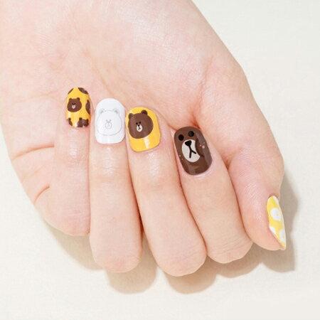 指甲可爱图片 开心熊