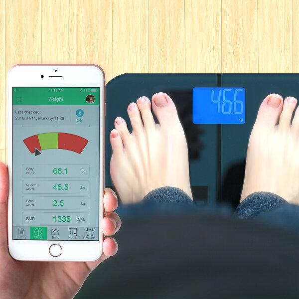 [亞果元素] BF1智慧藍牙體脂計使用app輕鬆管理健康數據(贈迷你雲)