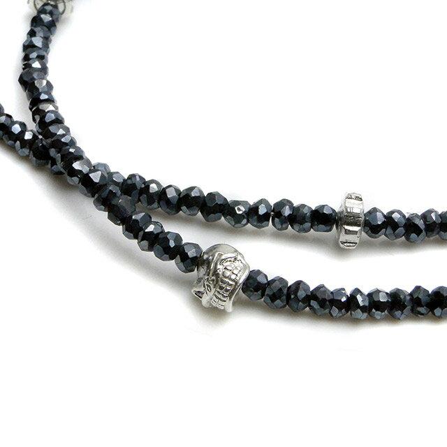 【現貨商品】【STARLINGEAR】復古風格黑尖晶石串珠純銀骷髏項鍊(STN040M-SV-2  0639260000) 4