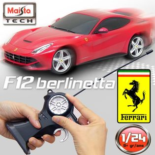 【Maisto】Ferrari F12 berlinetta《1/24》無線遙控模型車 -紅色