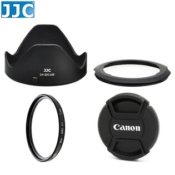 又敗家@JJC副廠Canon佳能LH-DC100遮光罩+FA-DC67B相機轉接環+格林爾多層膜67mm保護鏡+67mm Canon鏡頭蓋附繩組(可反裝倒扣相容原廠Canon遮光罩和原廠Canon轉接環)適G3X SX60 SX50 SX40 SX30 SX20 SX10 SX1 SX60HS SX50HS SX40HS G3 X亦相容LH-DC60遮光罩和FA-DC67A轉接環 LHDC100太陽罩FADC67A轉接環FADC67相機轉接環副廠遮光罩lens hood 67mm濾鏡