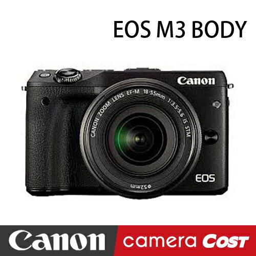 Canon EOS M3 單機身 公司貨 自拍 微單 送32G+遙控器+4好禮  ★ 10/31前贈防潮箱+原廠電池 ★ 0