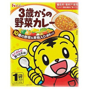 有樂町進口食品 日本原裝 house 巧虎3歲野菜豚肉咖哩(100g) 4902402851609