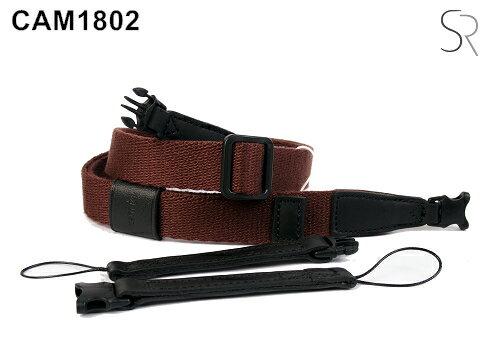 【Cam.in】潮流相機背帶 型號:CAM1802 (J0102) 可調式細繩 顏色:咖啡色
