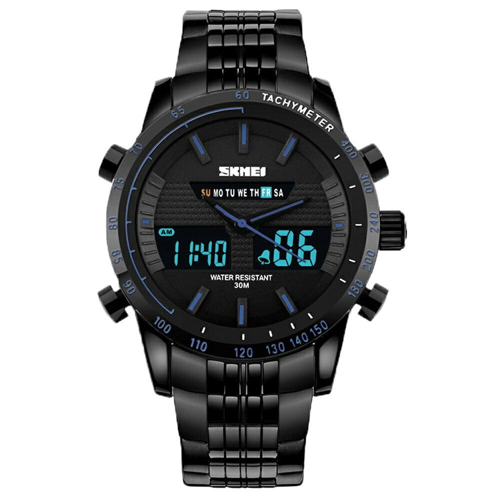 SKMEI 時刻美 1131 時尚雙顯夜光多功能防水計時運動錶 3