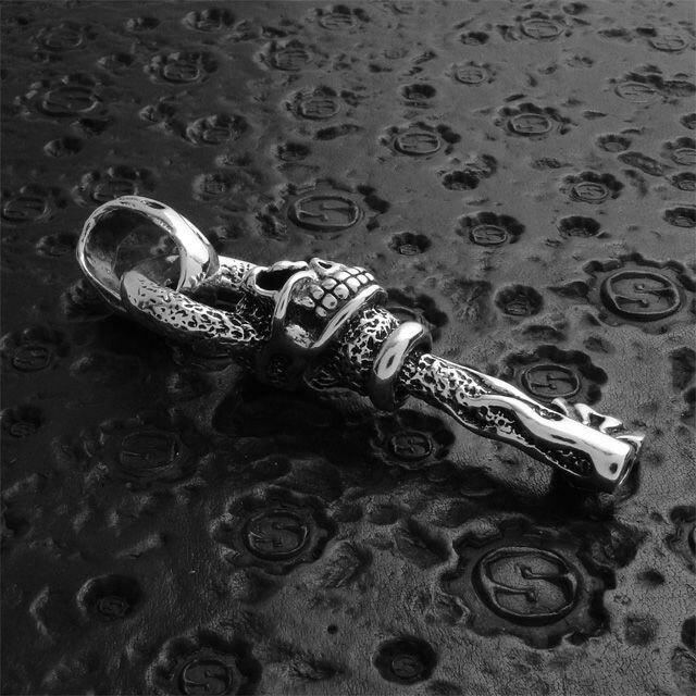 【現貨商品】【STARLINGEAR】地獄烈火骷髏萬能鑰匙純銀墜飾(STP007  0120010000) 4