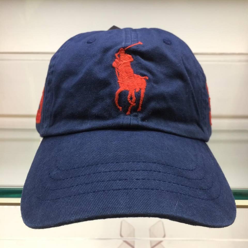 BEETLE POLO RALPH BASEBALL CAP 深藍 藍紅 馬球 LOGO 可調式 老帽 棒球帽 MN-385 0