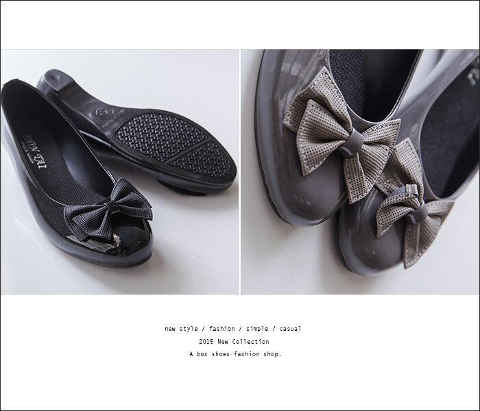 格子舖*【ADP524】台灣製 OL上班穿搭必備 甜美 蝴蝶結 圓頭平底包鞋 娃娃鞋 懶人鞋 2色 1
