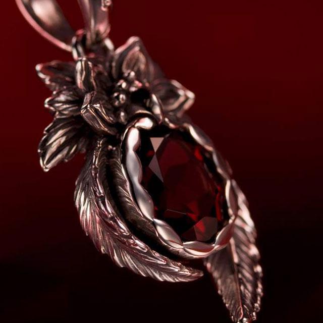 【海外訂購】【Bloody Mary】朱雀 玫瑰榴石純銀項鍊 45cm (BMP0689-Rg  0636560000) 3