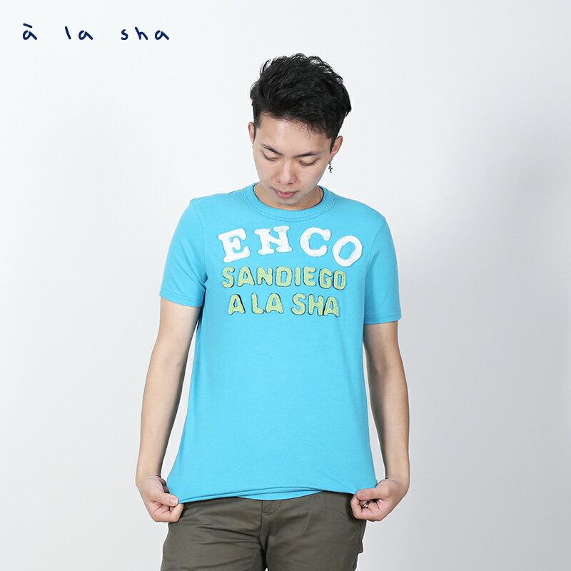 a la sha ENCO圖案圓領短袖T(男) 1
