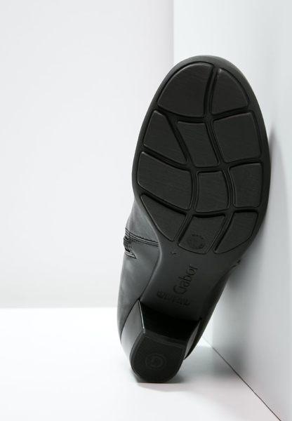 Gabor 歐美側拉鍊時尚踝靴 黑 4