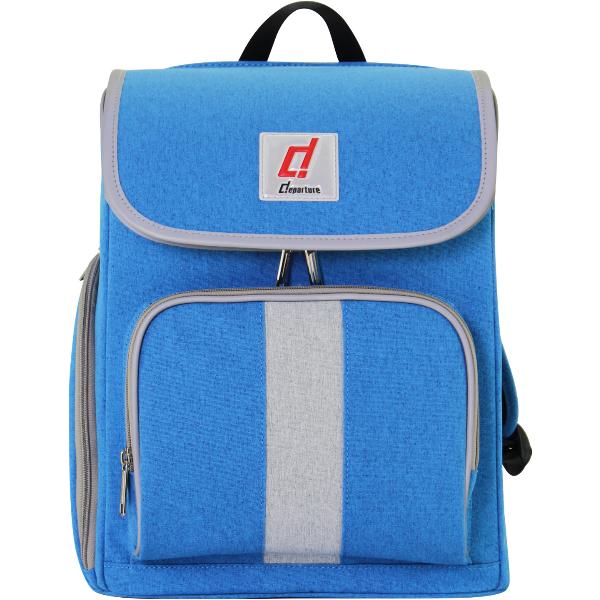 「超輕量兒童書包」安全反光邊條-後背包×丹寧藍色 :: departure 旅行趣∕ BP084 - 限時優惠好康折扣