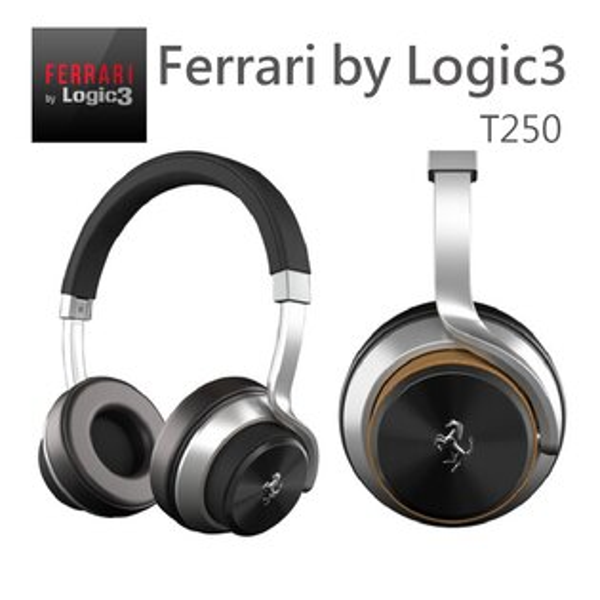 【Ferrari by Logic3】法拉利聯名款 T250 耳罩式耳機 腹機上用轉接頭
