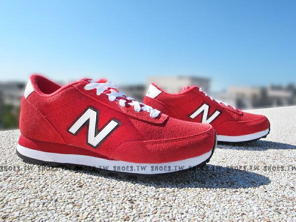 Shoestw【WL501SUD】NEW BALANCE 復古慢跑鞋 紅麂皮 透氣孔 女生 NB