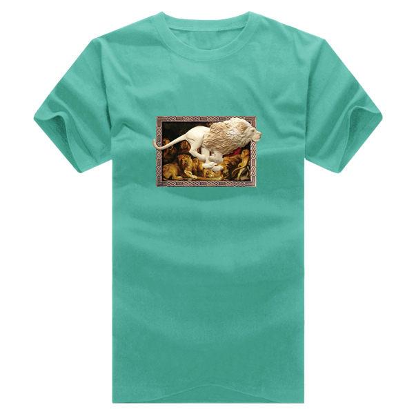 ◆快速出貨◆T恤.情侶裝.班服.MIT台灣製.獨家配對情侶裝.客製化.純棉短T.相框上奔跑獅子【YC364】可單買.艾咪E舖 5