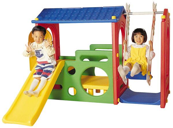【好優Hoyo】多功能快樂遊戲屋(床+書桌+溜滑梯+盪鞦韆)