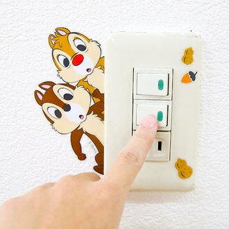 正版迪士尼彩色造型貼紙 壁貼 開關裝飾貼 米奇 米妮 奇奇蒂蒂 冰雪奇緣 維尼 玩具總動員 史迪奇【B060639】