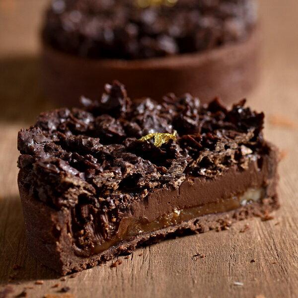 【安娜貝烘焙坊 ANNABE 巧克力脆片焦糖塔6吋】愛吃巧克力最愛它~ 特製巧克力脆片/焦糖堅果內餡/法國巧克力特調巧克力內餡/手工酥脆塔皮。多層次口感❤ 團購、伴手禮、聚會、彌月首選#野餐小點#團購美食 1