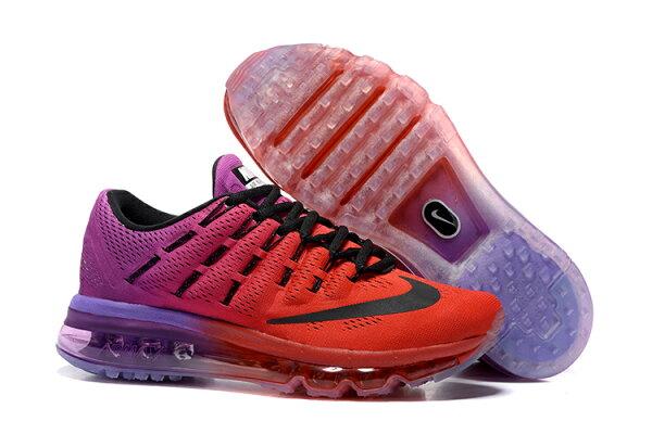 NIKE  Air Max 2016 女生氣墊跑鞋 運動鞋 全掌氣墊女子鞋 6091 深紅紫36-40