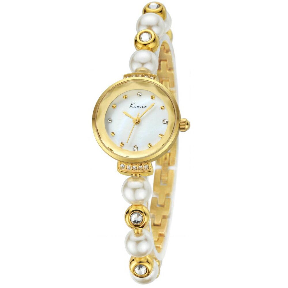 Kimio 金米歐 KW-6026 閃耀珍珠水鑽切割玻璃鏡面手練錶 1
