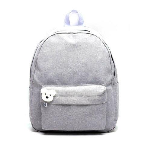 後背包 韓國品牌AFRICA RIKIKO 水洗布後背包 NO.126 라이트그레이(Light gray) - 包包阿者西