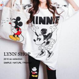 可愛卡通鼠印花長版T恤
