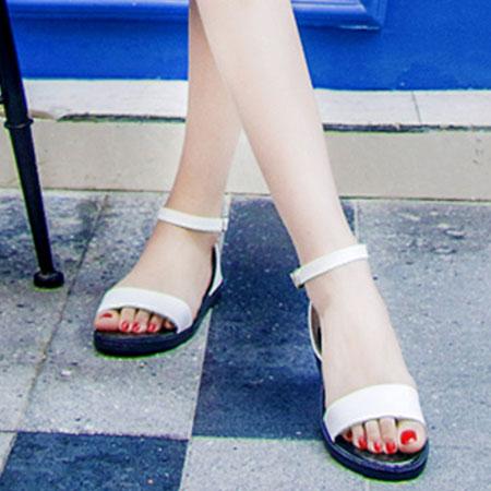 涼鞋 歐美簡約個性繫帶平底涼鞋【S1624】☆雙兒網☆ 2