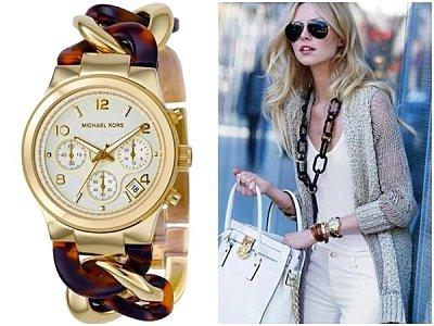 美國Outlet正品代購 MichaelKors MK 玳瑁三環 手鍊 手錶 腕錶 MK4222 1