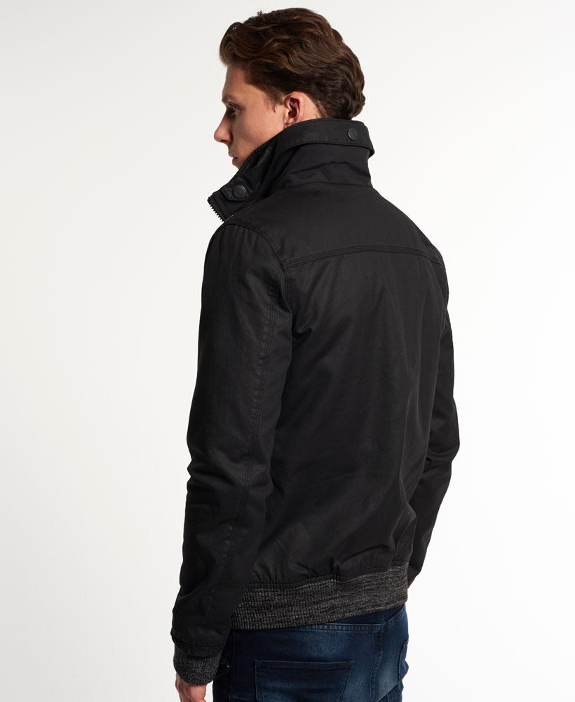 [男款]英國代購 極度乾燥 Superdry Moody Pilot短夾克 男士風衣戶外休閒 外套夾克防水防風保暖 黑色 3