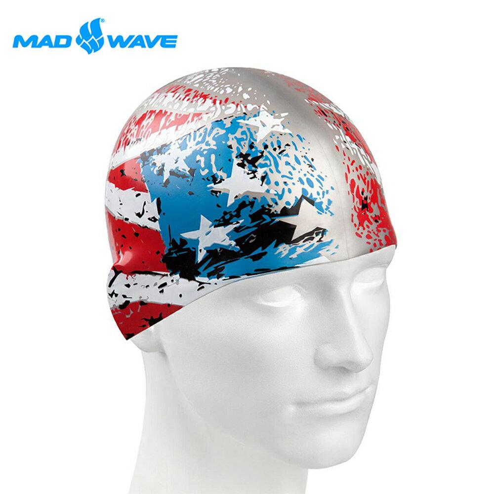 俄羅斯MADWAVE成人矽膠泳帽 USA - 限時優惠好康折扣