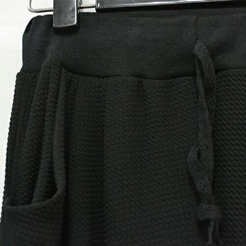哈倫褲 - 樹紋麻質清爽彈力腰縮哈倫長褲【23225】藍色巴黎 《4款》現貨+預購 2