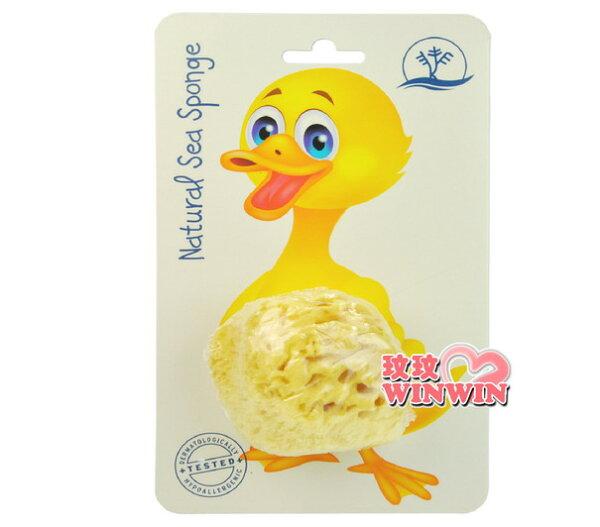KERESO 呱呱鴨蜂窩天然海綿3.5~4吋 KS-8004 天然洗澡海棉