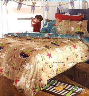 進口兒童床組航海家單人被套兩件組