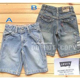 LEVI''S男童水洗牛仔五分褲.復古色.水藍色B款(六折專區)