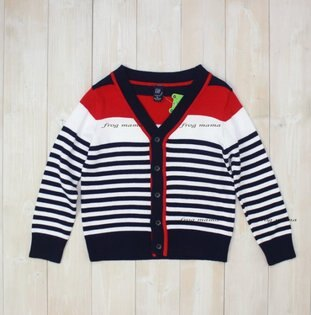 ☆青蛙媽媽☆GAP紅藍條紋針織外套95cm~110cm