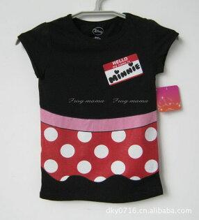米妮造型黑色長版T恤4/5(S)、6/6X(S)、7/8(M)