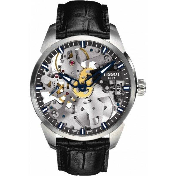 TISSOT天梭T0704051641100 T-COMPLICATION 3D手上鍊鏤空腕錶/鏤空面43mm