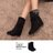 格子舖*【KS717】時尚簡約水鑽 兩穿可反摺麂皮絨布材質中筒內增高靴子 黑色 - 限時優惠好康折扣