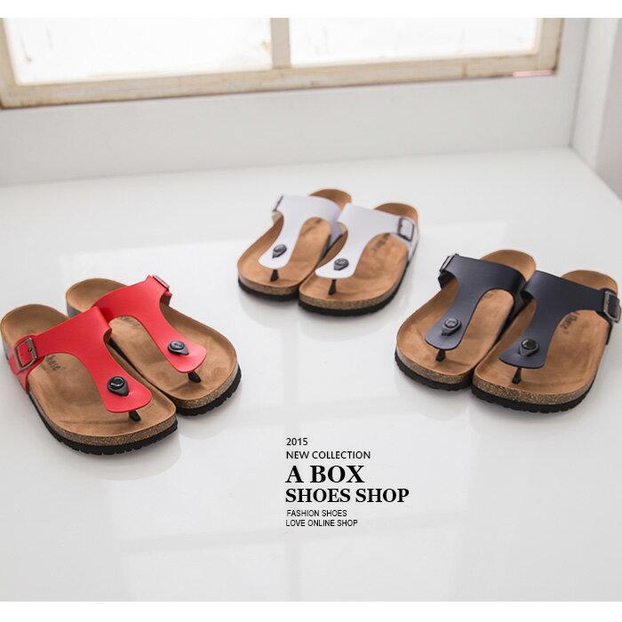 格子舖*【AS491】MIT台灣製 超值高質感基本款女款皮革夾腳鞋 懶人鞋 3色 0
