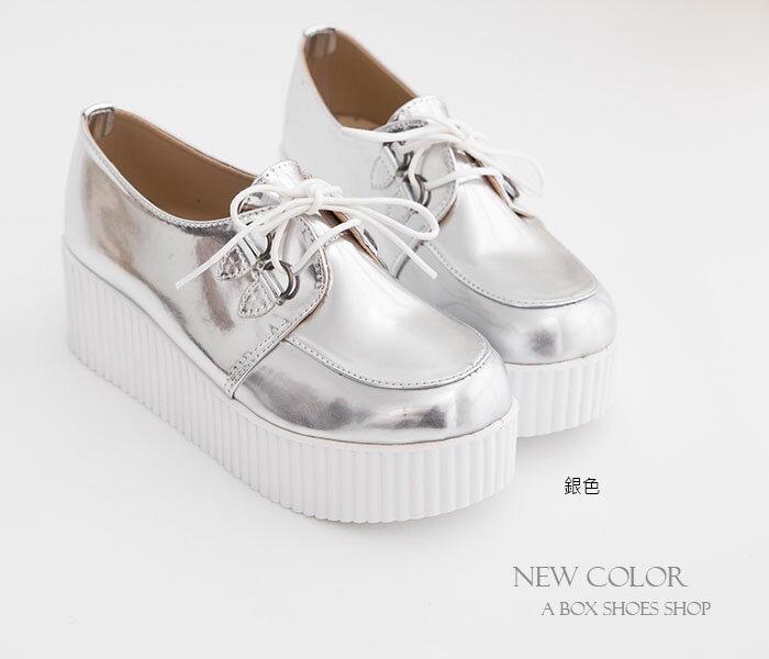 格子舖*【KWP7717】MIT台灣製 韓國流行風 厚底增高5.5CM 鬆糕鞋 毛呢厚底鞋 8色 1