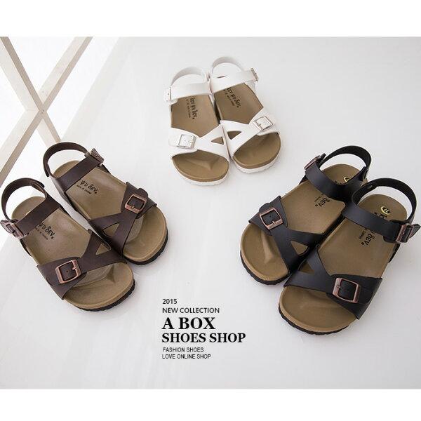 ★399免運★格子舖*【AW9228】MIT台灣製 超值高質感基本款女款皮革羅馬風涼鞋半包鞋 3色