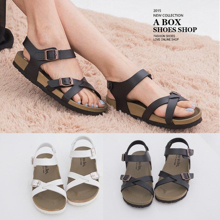 格子舖*【AW9230】就愛MIT台灣製高質感基本款皮革 懶人鞋羅馬涼鞋 2色 - 限時優惠好康折扣